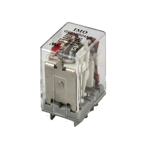 IMO Relay 2PCO, 10A, 24VAC, up to 1.8VA Plug-in, w