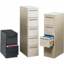 Vertical Files w/Recessed Drawer Handles
