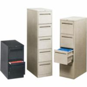 Vertical Files w/Recessed Drawer Handles