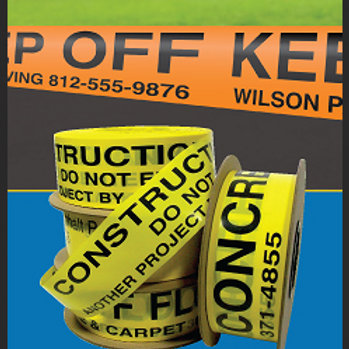 """Custom Barricade Tape 3"""" x 1000' 