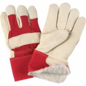 Grain Cowhide Fitters Acrylic Boa-Lined Gloves