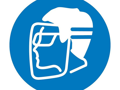 ISO Safety Label Wear Faceshield or Eye Protection Pictogram