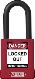 ABUS Plastic-Covered Safety Padlock 74 | Wholesale Safety Labels