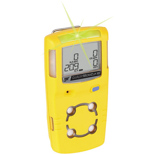BW Tech Gas Detectors - MicroClipXT 4Gas Detector