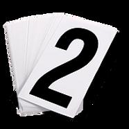 Pressure Sensitive Numbering | Wholesale Safety Labels