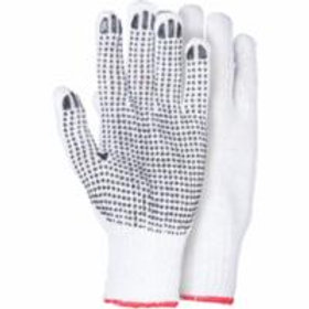 Zenith White Poly/Cotton Dotted Gloves