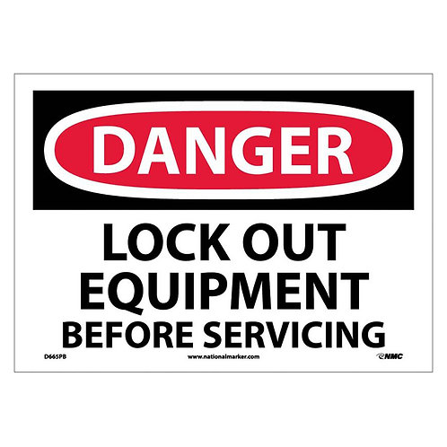 Lockout Signs:  Lockout Equipment Before Servicing | Toronto | Ontario | Wholesale Safety Labels