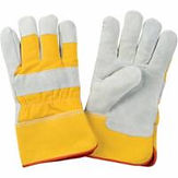 Split Cowhide Fitters Foam Fleece-Lined Gloves