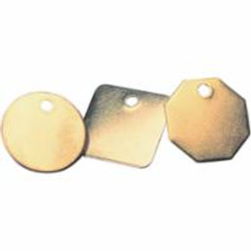 Blank Brass Valve Tags | Ontario | Canada | Wholesale Safety Labels
