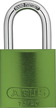 ABUS Anodized Aluminium 72/40 Green Lock | Wholesale Safety Labels