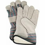 Split Cowhide Fitters Full Cotton Fleece-Lined Gloves