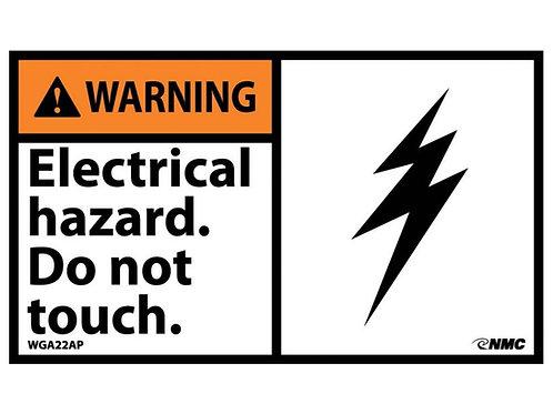Hazard Warning Label  Electrical Hazard Do Not Touch