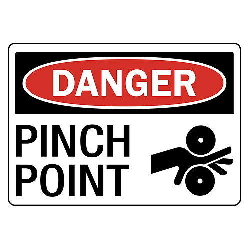 Danger Safety Signs:  Pinch Point | Wholesale Safety Labels