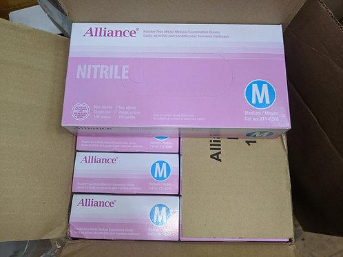 Alliance Nitrile Gloves 100 / Box Medium