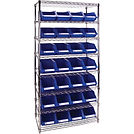 Wire Shelving Units with Storage Bins | Wholesale Safety Labels