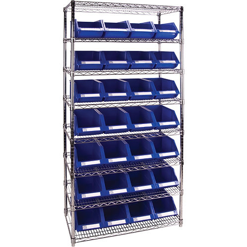 Shelving Units With Storage Bins - 4 Colour