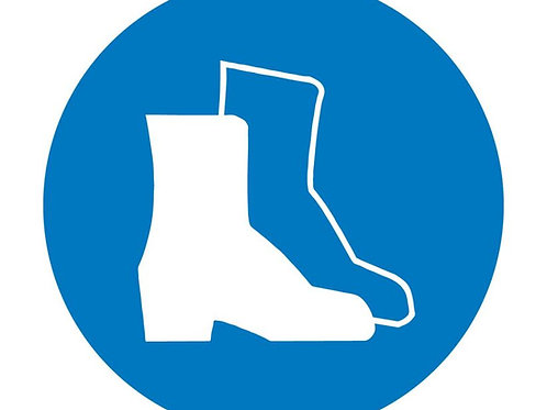 ISO Safety Label Wear Foot Protection Pictogram