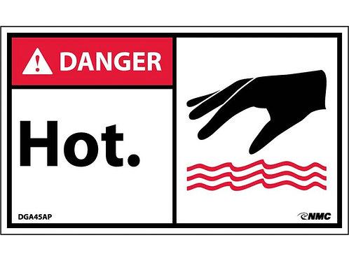 Hazard Danger Label Hot (Graphic)