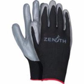 Zenith Safety Black Nylon Nitrile Coated Gloves