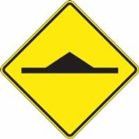 "Regulatory Warning Sign Speed Bump - 30""'x 30"""