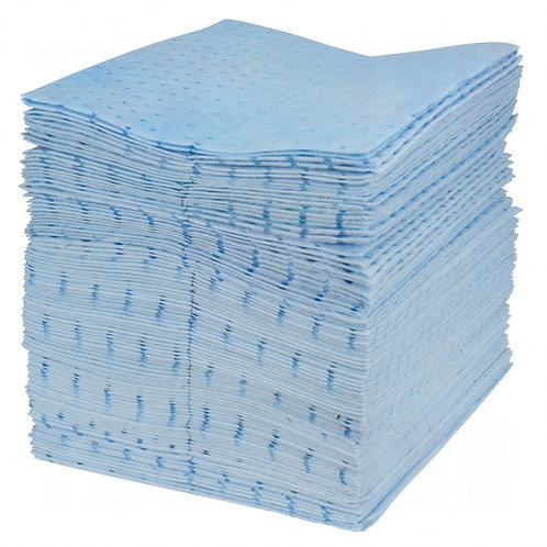 Blue Bonded Sorbent Pads & Rolls - 5 styles