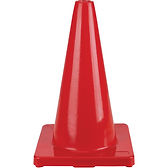 Coloured Cones Red | Wholesale Safety Labels