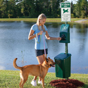 POLY DOGIPOT®PET WASTE STATION