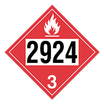Flammable Liquid, Corrosive 2924 Placards | Wholesale Safety Labels