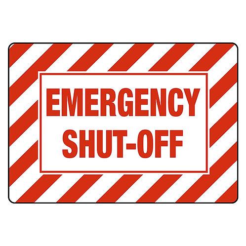 Danger Safety Signs:  Emergency Shut-Off   Wholesale Safety Labels
