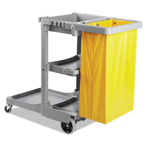 Boardwalk® Janitor's Cart, Three-Shelf