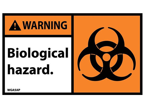Hazard Warning Label Biological Hazard