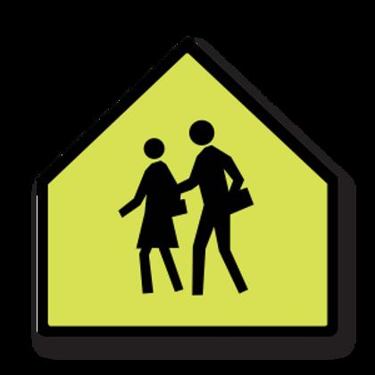 School Zone Pictogram Signs