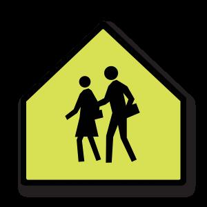 School Zone Pictogram Signs - 60 cm x 60 cm MP