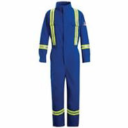 Flame-Resistant Premium Coveralls with Reflective Trim