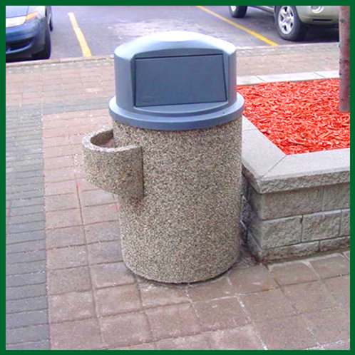 """22"""" RoundAsh / Trash Container with Dome Lid"""