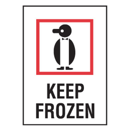 "Shipping Labels - Keep Frozen 4"" x 6"" 500/"