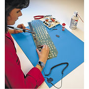 Stat-Free Work Surface Mats and Grounding Wires