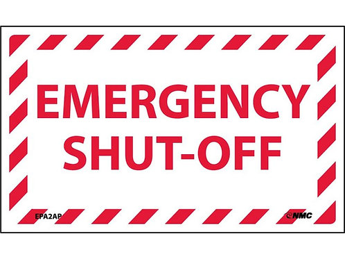 Emergency Shut-Off Labels