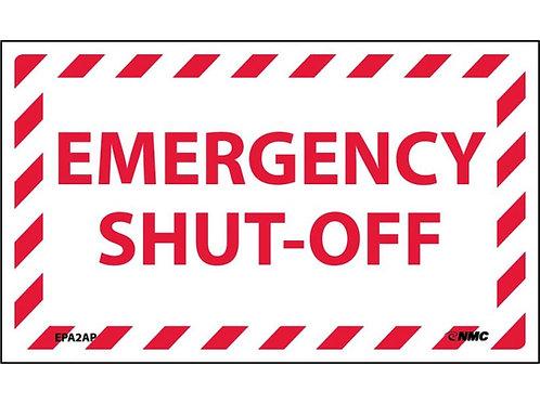 Emergency Shut-Off Labels