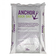 Anchor Rock Salt is an economical de-icing choice for large areas