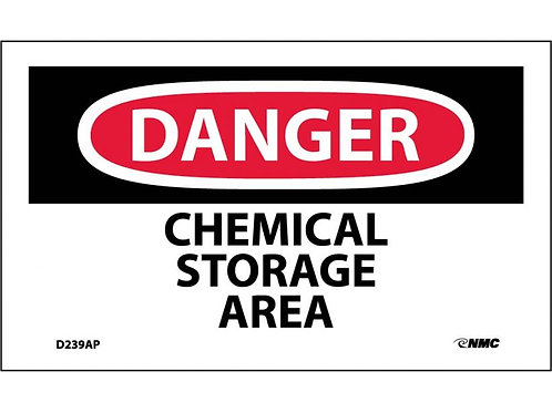 Danger Chemical Storage Area Labels