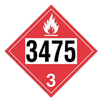 Ethanol Blended Fuel 3475 Placards | Wholesale Safety Labels