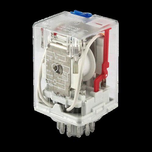 IMO Relay 3PCO, 10A, 24VDC, 2.7VA Plug-in,LED&Manu