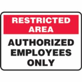 Restricted Area Authorized Employee Only Signs