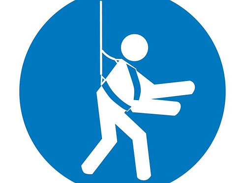 ISO Safety Label Wear Safety Harness Pictogram