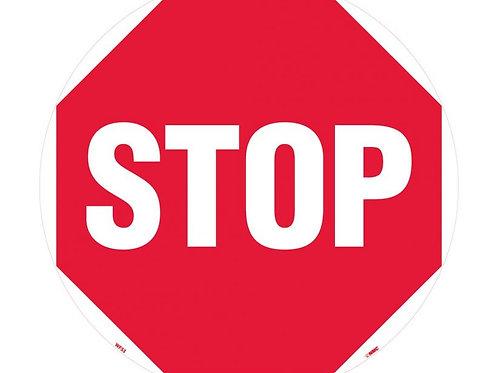 """Walk on Floor Signs:  STOP 17"""" x 17"""""""