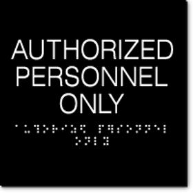 Premium Braille Facility Signs