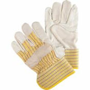 Superior Quality Unlined Grain Cowhide Fitters Gloves | Wholesale Safety Labels
