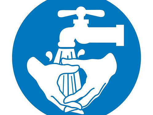ISO Safety Label Wash Hands Pictogram