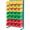 Bin Racks with Plastic Bins | Wholesale Safety Labels